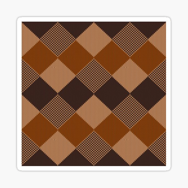 Natural Brown Tan Auburn Black Knit Style Design for Apparel and Accessories Sticker
