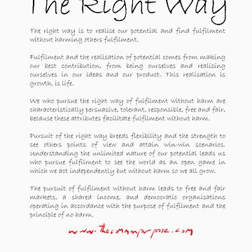 The Right Way t-shirt by benwallace13