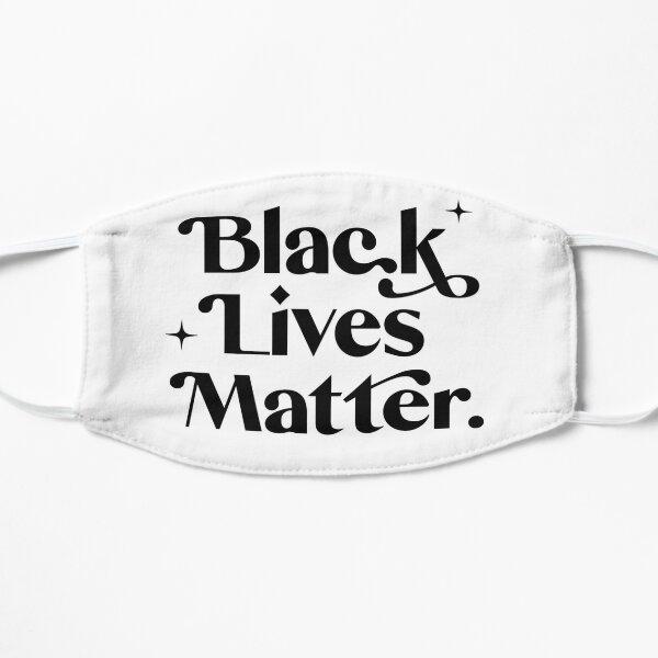 Black Lives Matter-Black Text Mask