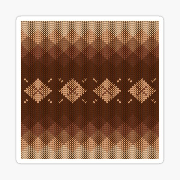 Natural Brown Tan Diamond Knit Style Design for Apparel and Accessories Sticker