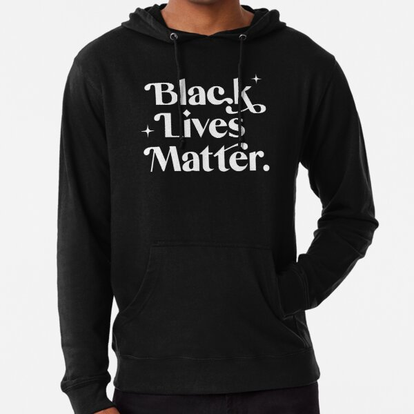 Black Lives Matter - White Text Lightweight Hoodie