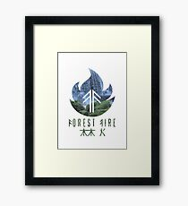 Forest Fire - Waterfall Framed Print