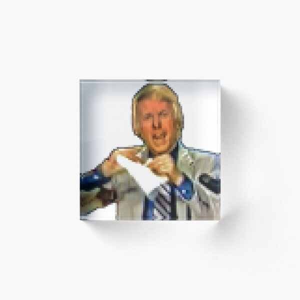 Retro 16-bit Wally George Icon Acrylic Block