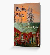 Playing White  Greeting Card
