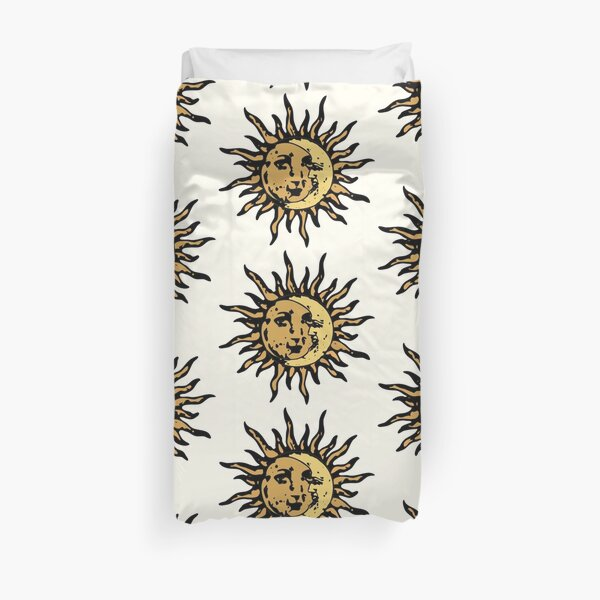 Vintage Sun And Moon Duvet Cover