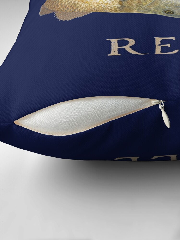 Alternate view of Keeping it Reel Redfish Design Floor Pillow