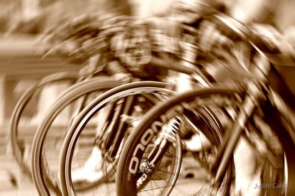 In a spin by Judith Cahill