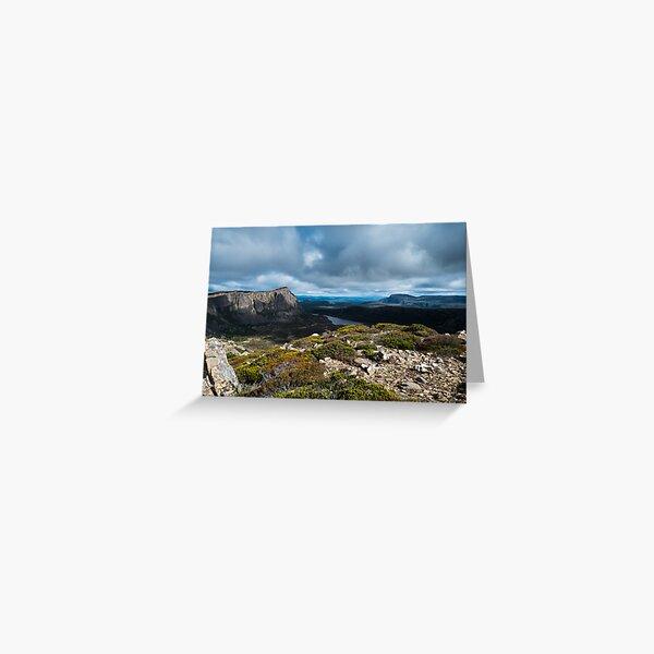 View from Mt Jerusalem, Tasmania Greeting Card