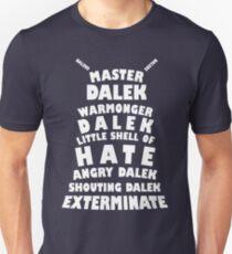 Master Dalek ('Soft Kitty' style) WHITE Unisex T-Shirt