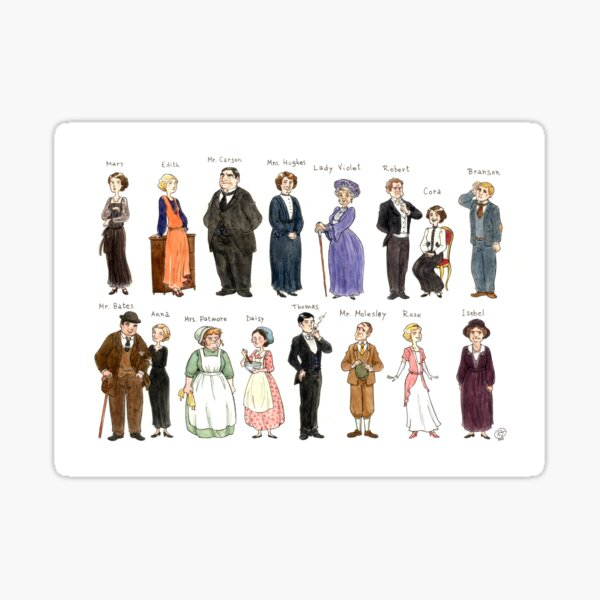 Downton A. Portraits Sticker