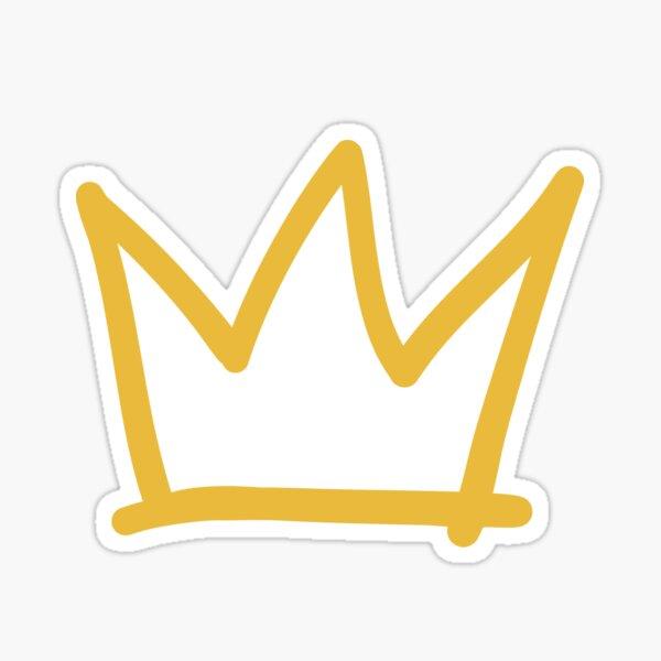 Couronne dorée Sticker