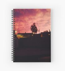 Strawberry Dipped Sky Spiral Notebook