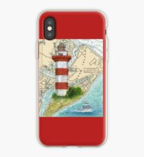 Hilton Head Lighthouse SC Nautical Chart Peek iPhone Case