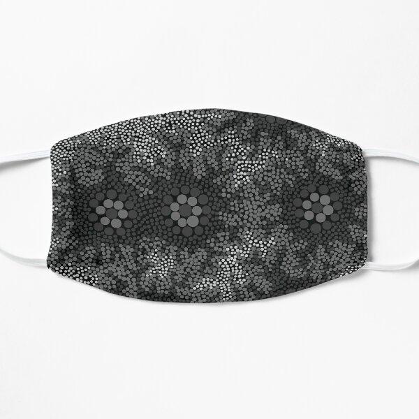 Aboriginal Art Authentic - Waterhole Dreaming B&W Flat Mask