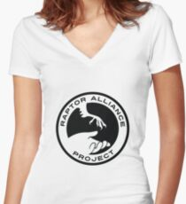 Raptor Alliance Project: Black Women's Fitted V-Neck T-Shirt