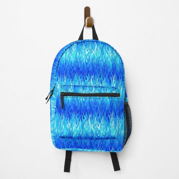 Flames Pattern - Blue Backpack