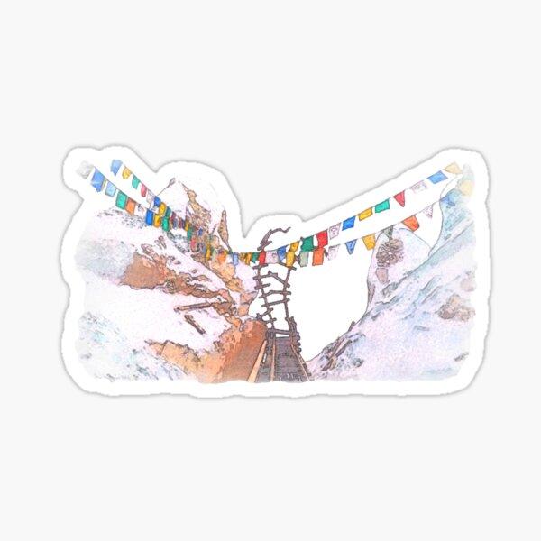 Everest Track Watercolor Sticker