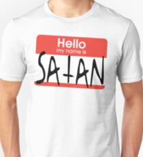 Hallo, mein Name ist Satan Slim Fit T-Shirt
