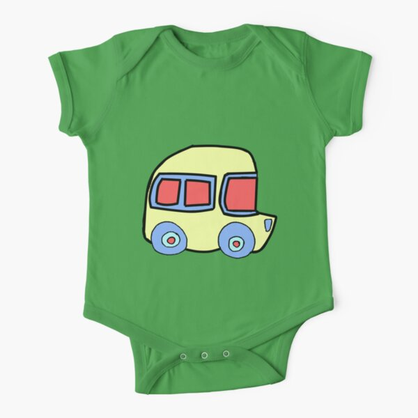 Yellow Bus - By Beatrice Ajayi Short Sleeve Baby One-Piece