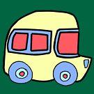 Yellow Bus - By Beatrice Ajayi by PoshCatDesigns