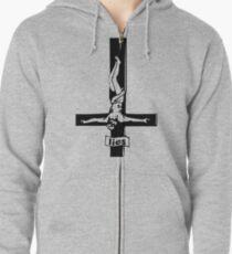 Inverted Cross Lies Zipped Hoodie
