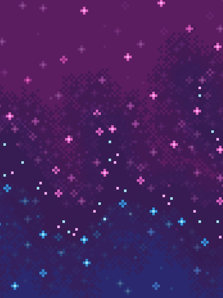 Bi Pride Flag Galaxy (8bit) by sp8cebit