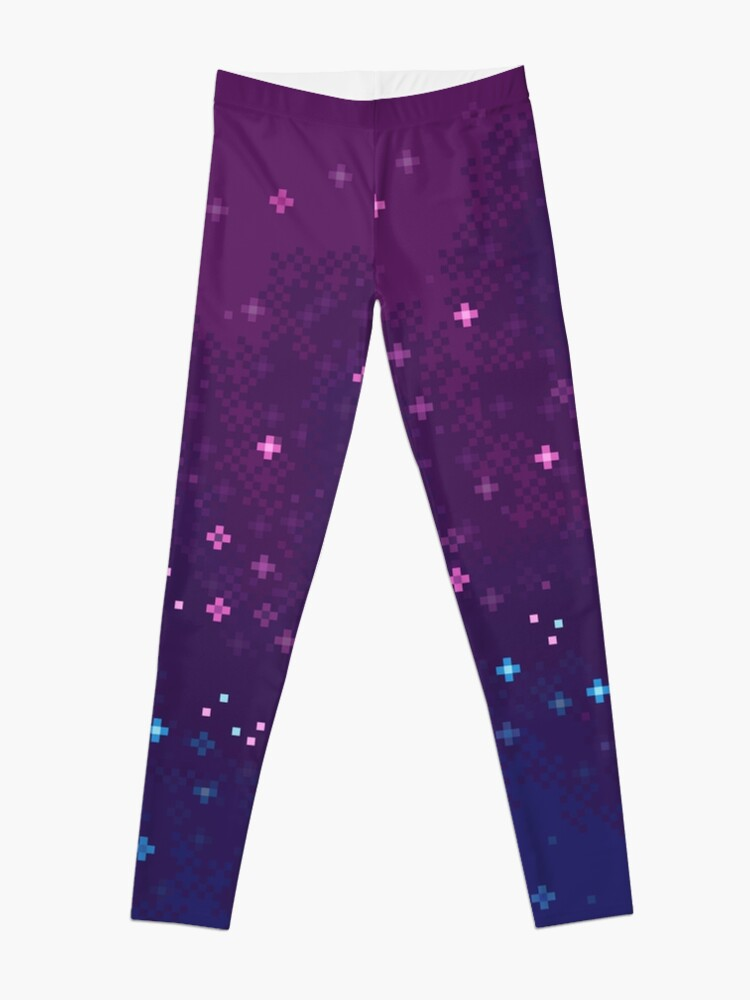 Alternate view of Bi Pride Flag Galaxy (8bit) Leggings