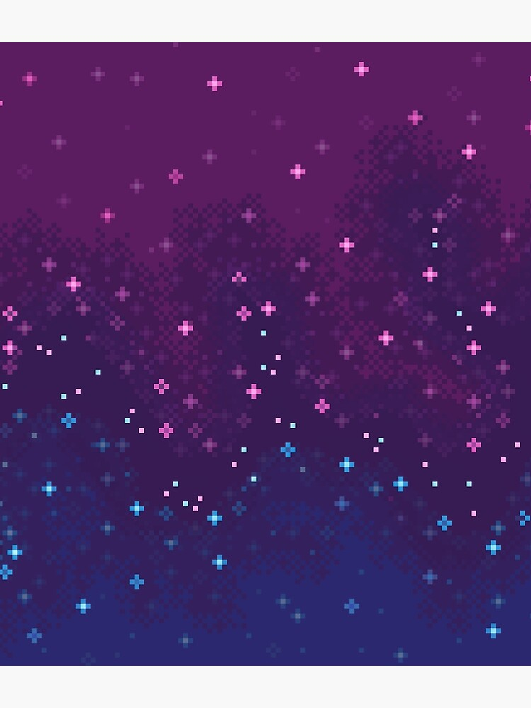 Bi Pride Flag Galaxy (8bit) by sp8cebit