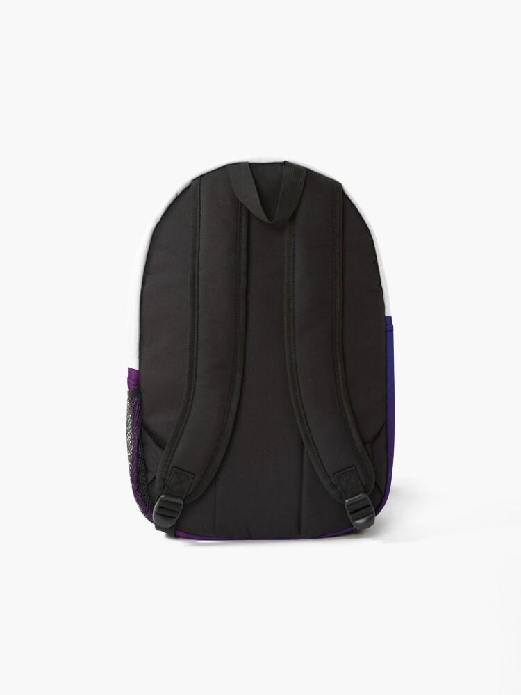 Alternate view of Bi Pride Flag Galaxy (8bit) Backpack