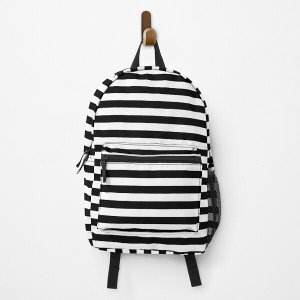 Black and white striped design Backpack