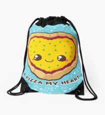A Pizza My Heart [Blue] Drawstring Bag