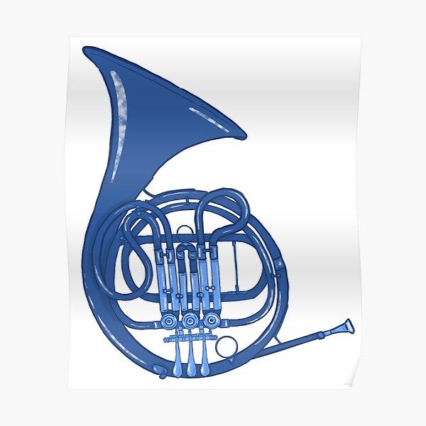 Cuerno francés azul Póster