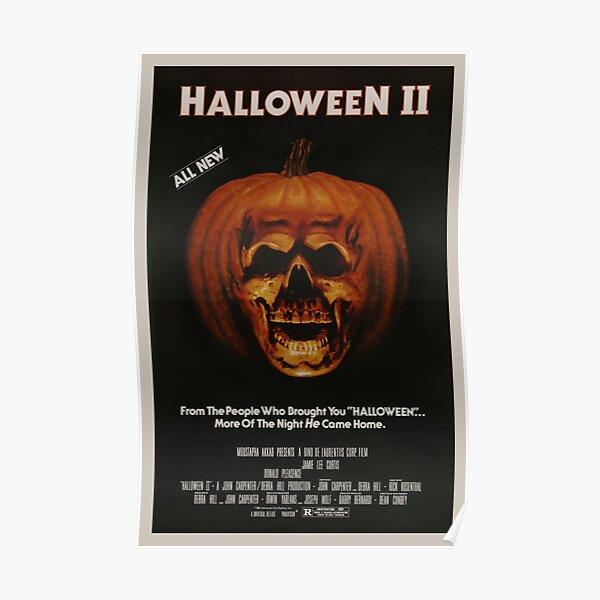 Halloween II - Vintage Movie Poster Poster