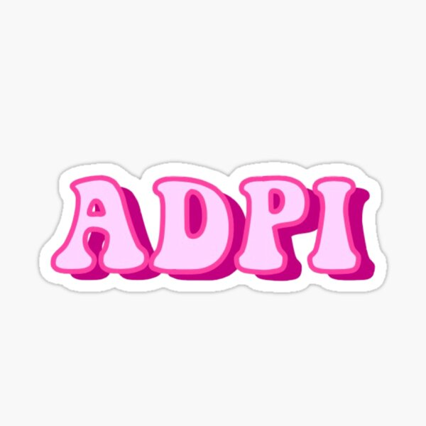 Alpha Delta Pi Sticker Sticker