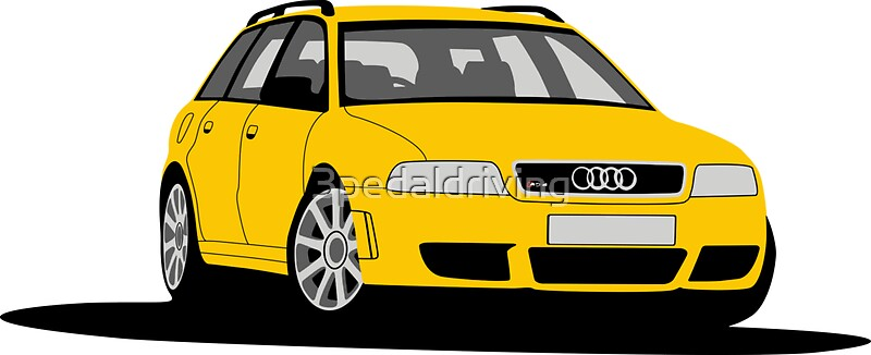 audi rs4 avant b5 stickers by 3pedaldriving redbubble. Black Bedroom Furniture Sets. Home Design Ideas