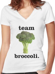 team broccoli Women's Fitted V-Neck T-Shirt