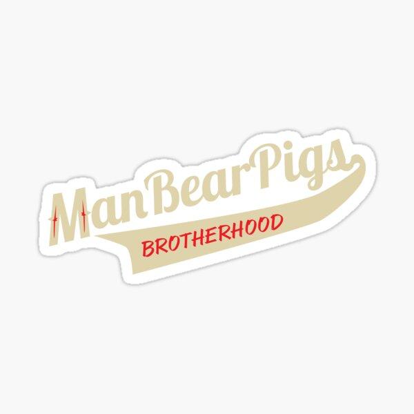 Man Bear Pigs Script Sticker