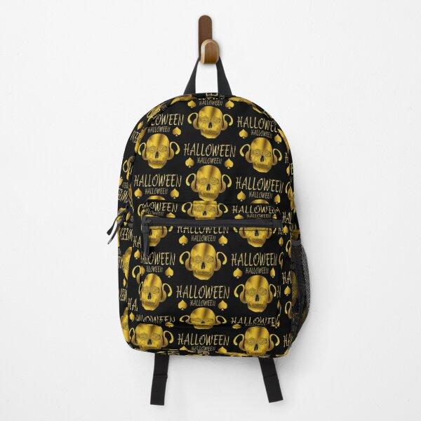 HALLOWEEN GOLDEN LETTERS HEAD OF DEATH Backpack