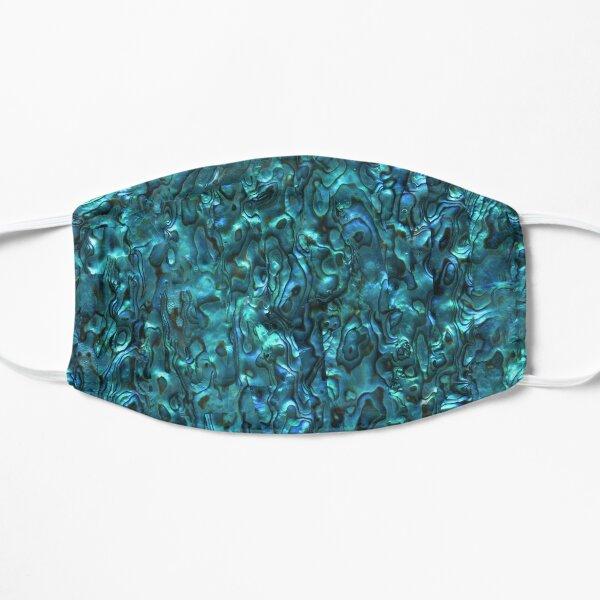 Abalone Shell | Paua Shell | Seashell Patterns | Sea Shells | Cyan Blue Tint |  Flat Mask