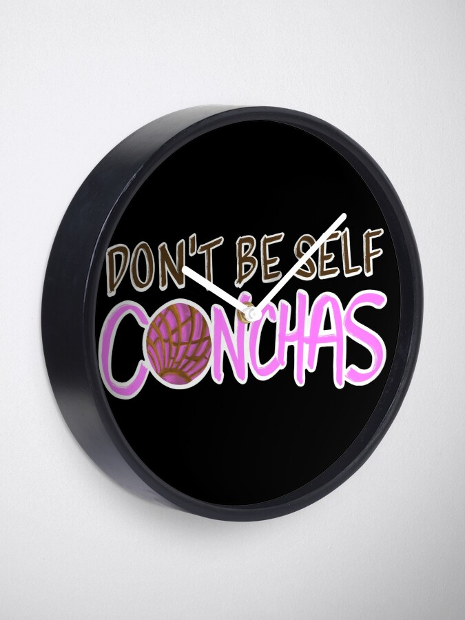 Alternate view of Don't Be Self Conchas Clock