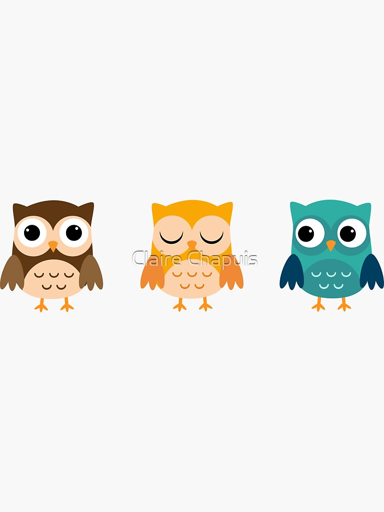 Cute Owls Chibi by ClaireCrisci