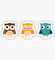 Cute Owls Chibi Sticker