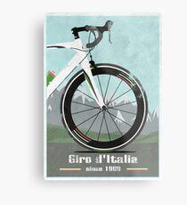 Lienzo metálico BICICLETA GIRO D'ITALIA