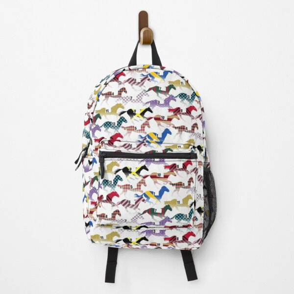 Off to the Horse Races Jockey Silks Pattern Backpack