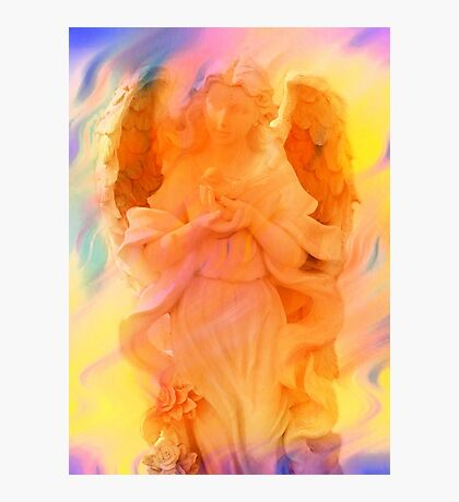 Angel Of Peace Holding Dove by Marie Sharp Photographic Print