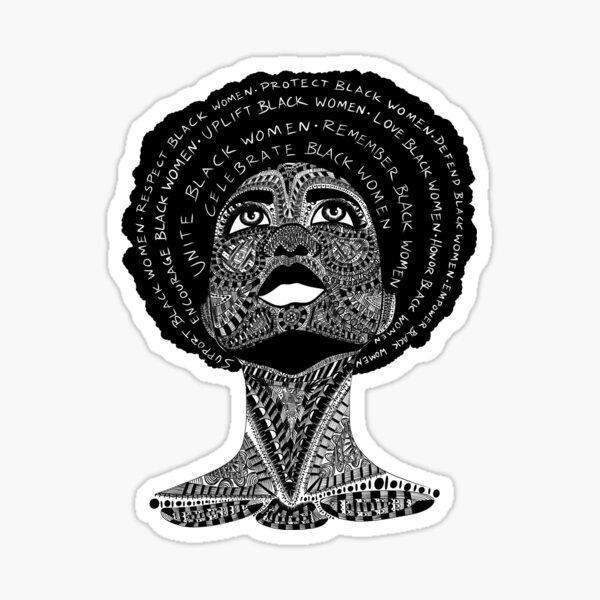 Support Black Women Sticker