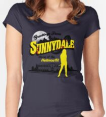 Greetings from Sunnydale  Women's Fitted Scoop T-Shirt
