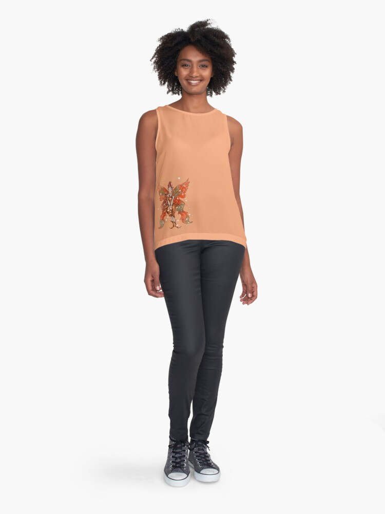 Alternate view of Faylin The Thanksgiving/Fall Fairy™ Sleeveless Top