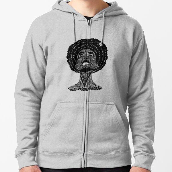 Support Black Women Zipped Hoodie