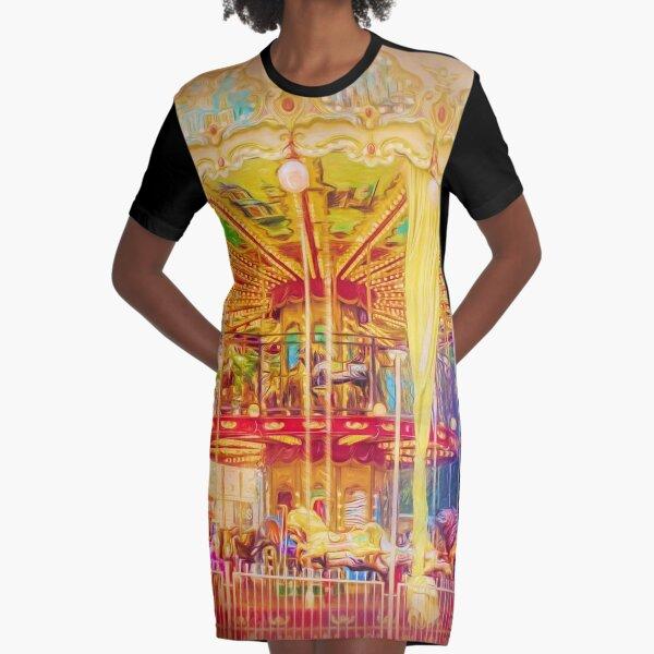 Carousel Graphic T-Shirt Dress